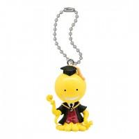 01-92232  Assassination Classroom Mini Figure Mascot Key Chain Swing  1st hour 300y - Koro-sensei