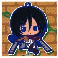 01-92264 Attack on Titan Rubber Mascot Strap - Mikasa Ackerman