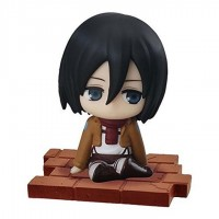 01-94104 Attack on Titan Suwarasetai Sitting Mini Figure Collection - Mikasa Ackerman