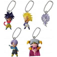 01-95735 Dragon BallZ / GT Ultimate Deformed Mascot UDM The Best 10 Mini Figure Mascot Key Chain 200y - Set of 5