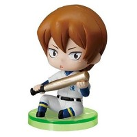 01-97116 Ace of Diamond Baseball Suwarase Team Sitting Mini Figures Capsule Toy 400y - Toujou Hideaki