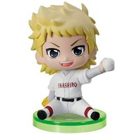 01-97116 Ace of Diamond Baseball Suwarase Team Sitting Mini Figures Capsule Toy 400y - Narumiya Mei