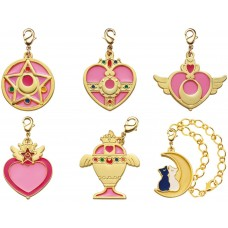 01-97187 Sailor Moon Stained Charm Locket with Clasp 300y - Set of 6