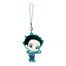 01-13273 Bandai Yuri!!! on Ice Capsule Rubber Mascot 300y - Yuri Katsuki