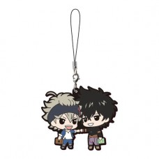 01-17955 Bandai  Black Clover Capsule Rubber Mascot Strap 300y - Asta & Yuno