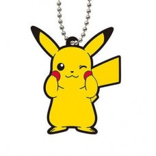 02-23311 Bandai  Pocket Monster Pokemon Capsule rubber Mascot Vol. 6 300y - Pikachu