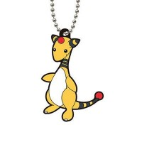 02-23311 Bandai  Pocket Monster Pokemon Capsule rubber Mascot Vol. 6 300y - Ampharos (Denryu)