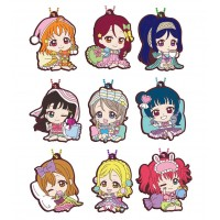 01-26913 School Idol Project Love Live! Sunshine!! Capsule Rubber Mascot 10 300y - Set of 9