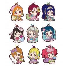 01-26913 School Idol Project Love Live! Sunshine!! Capsule Rubber Mascot 10 300y - Set of 9