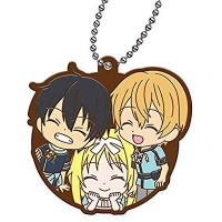 01-26915 Sword Art Online SAO  Alicization Capsule Rubber Mascot Vol. 2 300y - Kirito / Alice / Eugeo