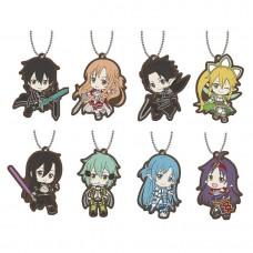 01-29193 Sword Art Online SAO Capsule Rubber Mascot 01  300y - Set of 8