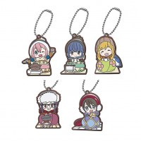 01-29485 Yuru Camp Capsule Rubber Mascot 300y - Set of 5