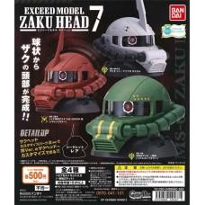 01-40467  Mobile Suit Gundam Exceed Model Zaku Head Pt 7  500y - Set of 3