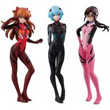 01-44617 Neon Genesis Evangelion Shin Movie Version Gasha Portraits Mini figure Collection 500y - Set of 3