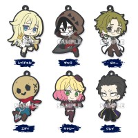01-36884 Angels of Death Capsule Rubber Mascot Strap  300y - Set of 6