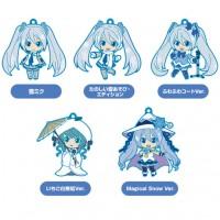 01-95337 Vocaloid Hatsune Miku Snow Miku Nendoroid Plus Capsule Rubber Mascot Pt 01 300y - Set of 5