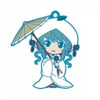 01-95337 Vocaloid Hatsune Miku Snow Miku Nendoroid Plus Capsule Rubber Mascot Pt 01 300y - Strawberry White Kimono Version