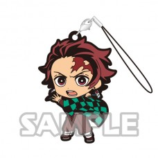 01-16028 Demon Slayer: Kimetsu no Yaiba Capsule Rubber Mascot Strap 300y - Tanjiro Kamado