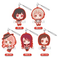 01-71799 Bang Dream! Girls Band Party! Capsule Rubber Mascot Strap Afterglow Ver. 300y - Set of 5