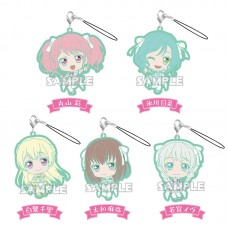 01-71800 Bang Dream! Girls Band Party! Capsule Rubber Strap Pastel Palettes Ver. 300y - Set of 5