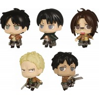 01-81582 Attack on Titan Chimi Chara Mini Figure Mascot Part 3 200y - Set of 5