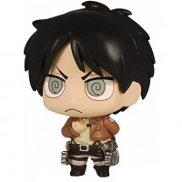 01-81582 Attack on Titan Chimi Chara Mini Figure Mascot Part 3 200y - Eren Yeager