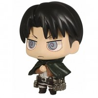 01-81582 Attack on Titan Chimi Chara Mini Figure Mascot Part 3 200y - Levi Ackerman