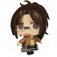 01-81582 Attack on Titan Chimi Chara Mini Figure Mascot Part 3 200y - Hange Zoë (Hans Zoe)