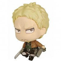 01-81582 Attack on Titan Chimi Chara Mini Figure Mascot Part 3 200y - Reiner Braun