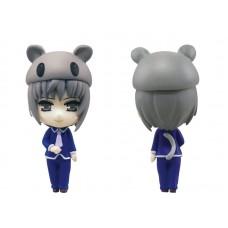 01-83145 Fruits Basket Kigurumi Costumed Mini Figure Mascot Key Chain 300y - Yuki Sohma