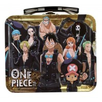 01-16070 Marusho One Piece Film Gold Mini Tin Lunch Box