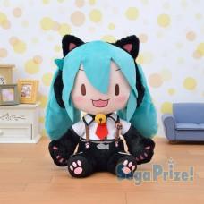 01-19303 Hatsune Miku Project DIVA Arcade Future Tone Mega Jumbo Plush Doll - Hatsune Miku Nyanko