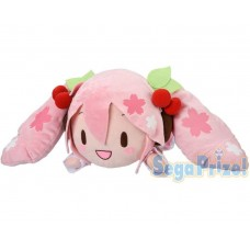 01-37790 Vocaloid Hatsune Miku Mega Jumbo Nesoberi Plush - Sakura Miku