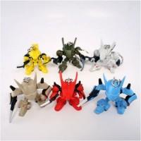 01-75639 Brain Powerd Gashapon Swingers Keychain - Set of 6
