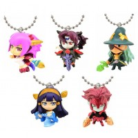 02-92207 Puzzles and Dragons God Festival Super Deformed Figure Mascot Swinger 200y - Set of 5