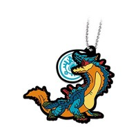 02-13199 Monster Hunter Stories: Ride On Capsule Rubber Mascot 300y -  Lagiacrus
