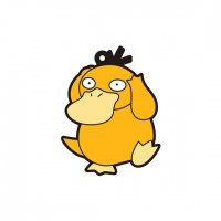 01-18225 Pokemon Sun & Moon Capsule Rubber Mascot  Pt. 4  300y - Psyduck