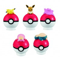 02-22607 Bandai  Pocket Monster Pokemon Tamanori (Ball Balancing) Collection 300y - Set of 5