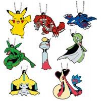 02-24719 Pocket Monster Pokemon Sun & Moon The Movie Capsule Rubber Mascot  Part 8 300y - Set of 8