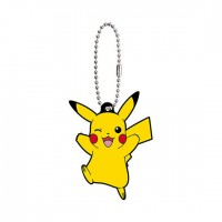 02-24719 Pocket Monster Pokemon Sun & Moon The Movie Capsule Rubber Mascot  Part 8 300y - Pikachu