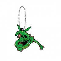02-24719 Pocket Monster Pokemon Sun & Moon The Movie Capsule Rubber Mascot  Part 8 300y - Rayquaza