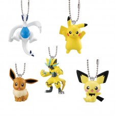 02-27125 Bandai Pokémon the Movie: Everyone's Story Mascot / Swing Keychain  300y - Set of 5