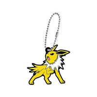 02-27129 Pokemon Sun & Moon Capsule Rubber Mascot Eevee Evolution Special version  300y - Jolteon