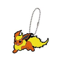 02-27129 Pokemon Sun & Moon Capsule Rubber Mascot Eevee Evolution Special version  300y - Flareon
