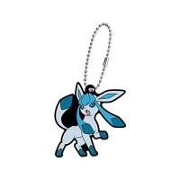 02-27129 Pokemon Sun & Moon Capsule Rubber Mascot Eevee Evolution Special version  300y - Glaceon