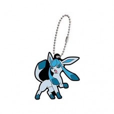 02-27129 Pokemon Sun & Moon Capsule Rubber Mascot Eevee Evolution Special version  300y - Glaceon