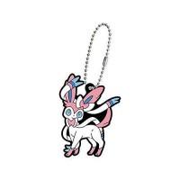 02-27129 Pokemon Sun & Moon Capsule Rubber Mascot Eevee Evolution Special version  300y - Sylveon