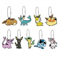 01-36243 Pokemon Sleeping Eevee Evolution Capsule Rubber Mascot Ver. 2 300y - Set of 9