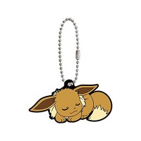 01-36243 Pokemon Sleeping Eevee Evolution Capsule Rubber Mascot Ver. 2 300y - Eevee
