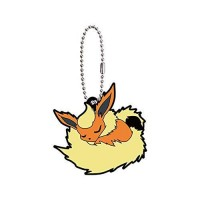 01-36243 Pokemon Sleeping Eevee Evolution Capsule Rubber Mascot Ver. 2 300y - Flareon